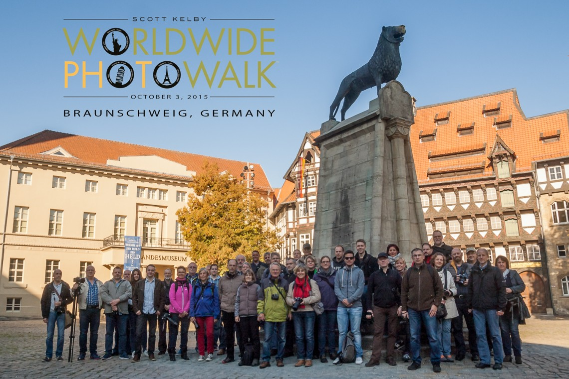Gruppenfoto Worldwide Photo Walk 2015 in Braunschweig