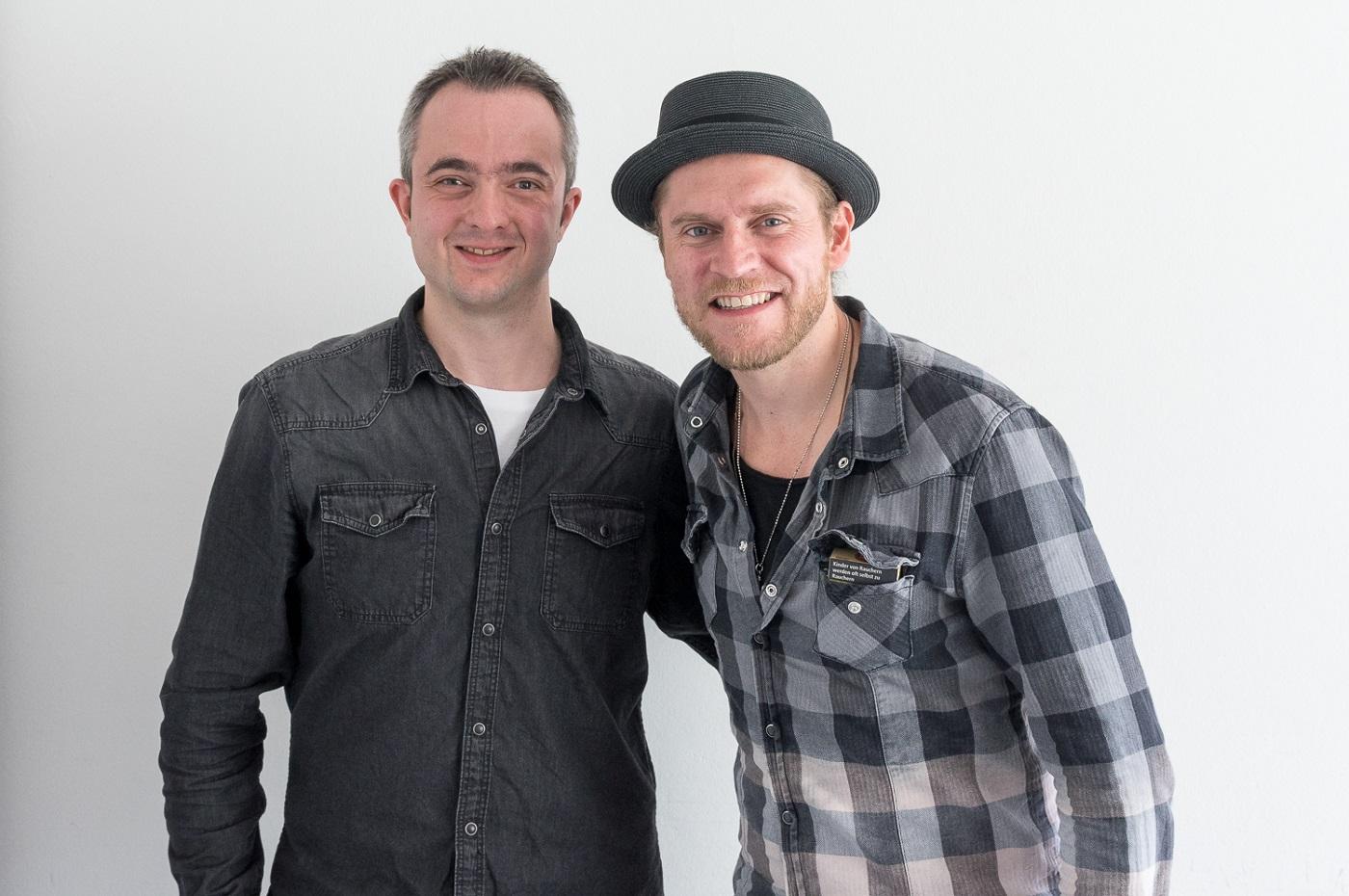 Markus Hörster mit Johannes Oerding in Wolfsburg beim Tag der Niedersachsen 2017