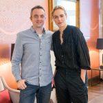 Markus Hörster mit Schauspielerin Nina Hoss auf dem 31. Internationalen Filmfestival Braunschweig
